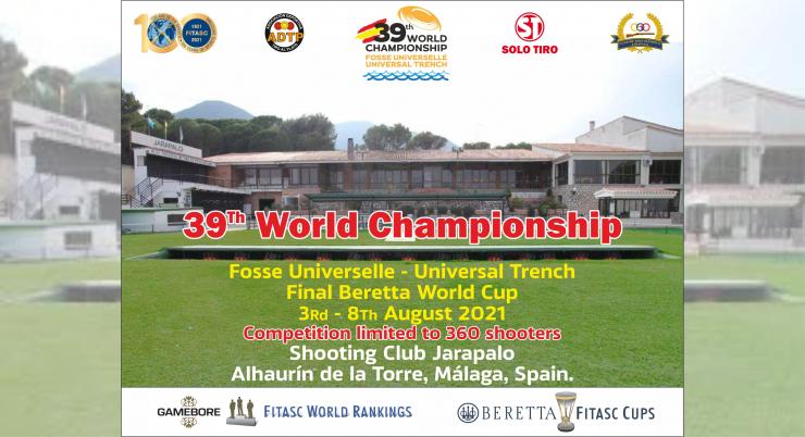 Abierta la inscripción del Campeonato del Mundo de Foso Universal 2021 en Málaga.