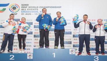 Campeonato del Mundo de la ISSF F.O. Equipos Mixtos en Changwon (Korea)