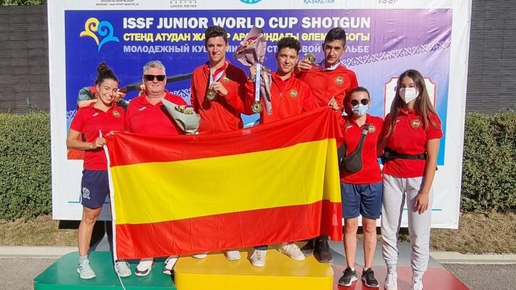 Campeonato del Mundo ISSF F.O. Equipos Mixtos en Almaty (Kazajistán)