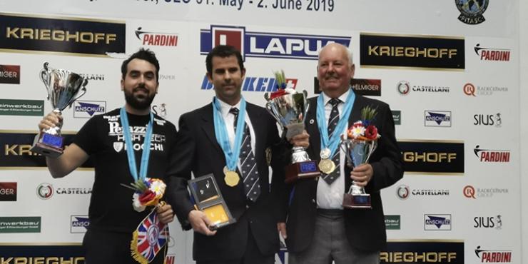 Mario Fuentes subcampeón de Europa de Foso Universal y Campeón de la Copa de Europa (Copa Beretta).